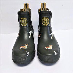 Joules Wellibob Dark Green Dog Print Boots